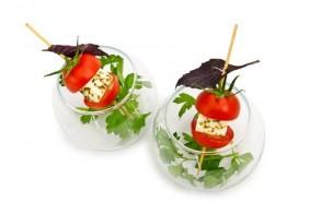 Käse-Tomaten-Spieß als Snack beim Catering